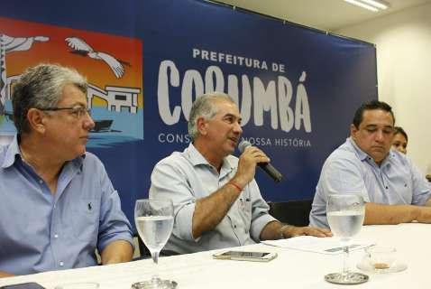 Reativação de ferrovia vai impulsionar economia do MS, diz Reinaldo