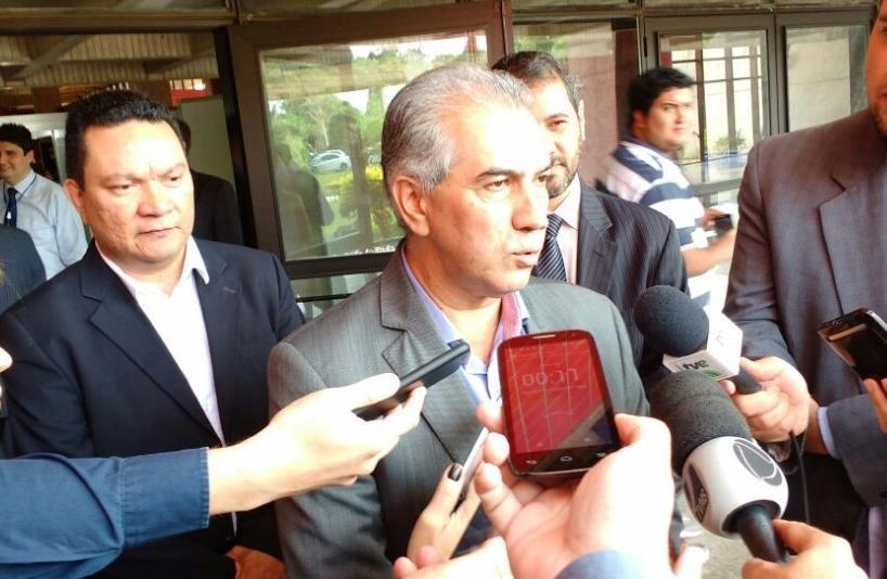 Reinaldo Azambuja cumpre agenda hoje na cidade de Rio Branco (Foto: Leonardo Rocha)