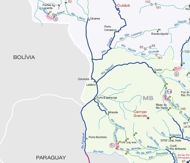 Hidrovia vai de Cáceres no Mato Grosso até o Uruguai, passando por Mato Grosso do Sul