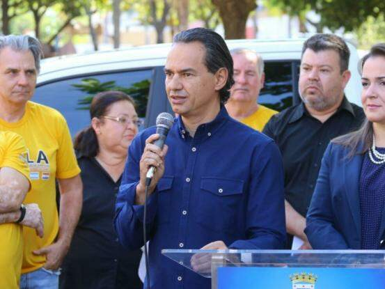 Prefeito de Campo Grande, Marquinhos Trad, PSD. (Foto: André Bittar/Arquivo).