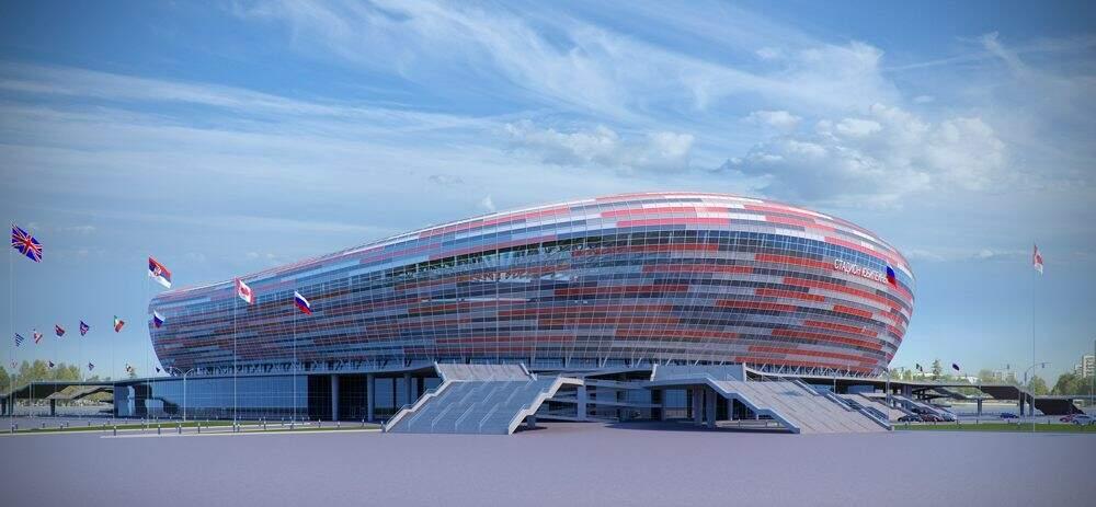 Mordovia Arena, na cidade de Saransk, vai receber quatro jogos da fase de grupo (Foto: Divulgação)