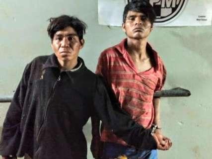 Índios invadem chácara para roubar, ameaçam casal e dois são presos