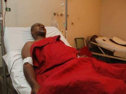 Após perder a mulher, motociclista vítima de racha passará por cirurgia