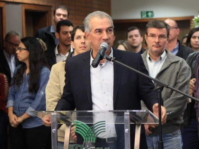 Governador Reinaldo Azambuja (PSDB) vai cumprir agenda em Selvíria (Foto: Marina Pacheco - Arquivo)