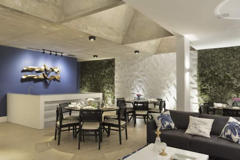 Restaurante Casa Cor, um dos ambientes que recebe a Gastronomia, assinado por Sandra Madeira. (Foto: Denilson Machado)