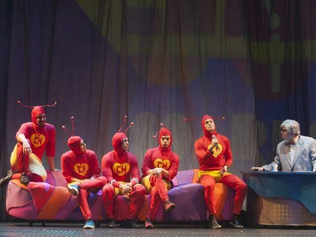 Momentos épicos, como o da entrevista com Jô Soares, são relembrados no musical. (Foto: Acervo Pessoal)