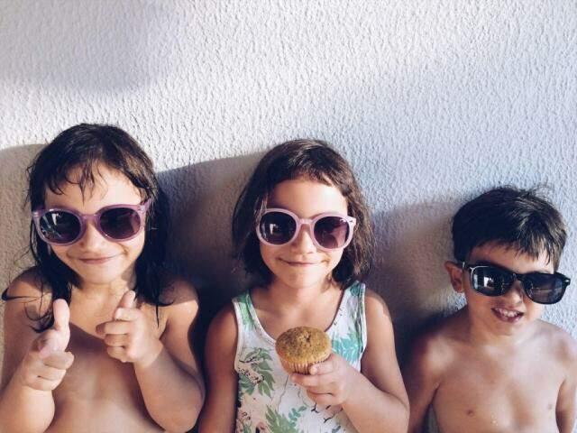 Os três filhos de Tati são as estrelas do blog Família Moderna (Fotos: Arquivo Pessoal)