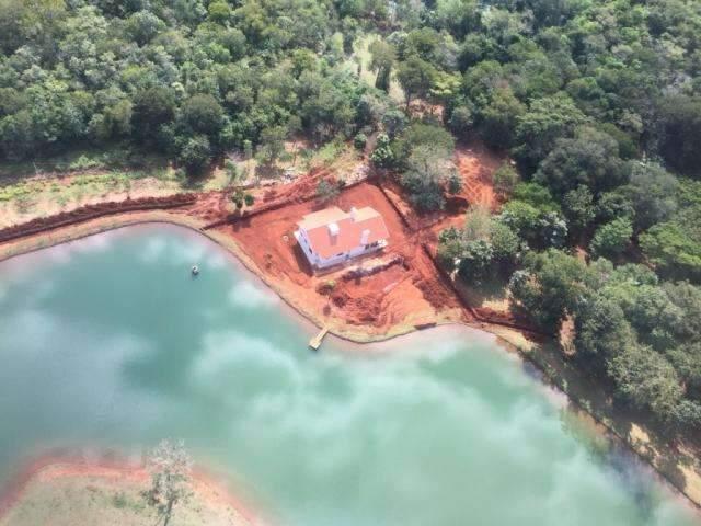 Imagens mostram desvio do Rio do Prata para lago particular em fazenda