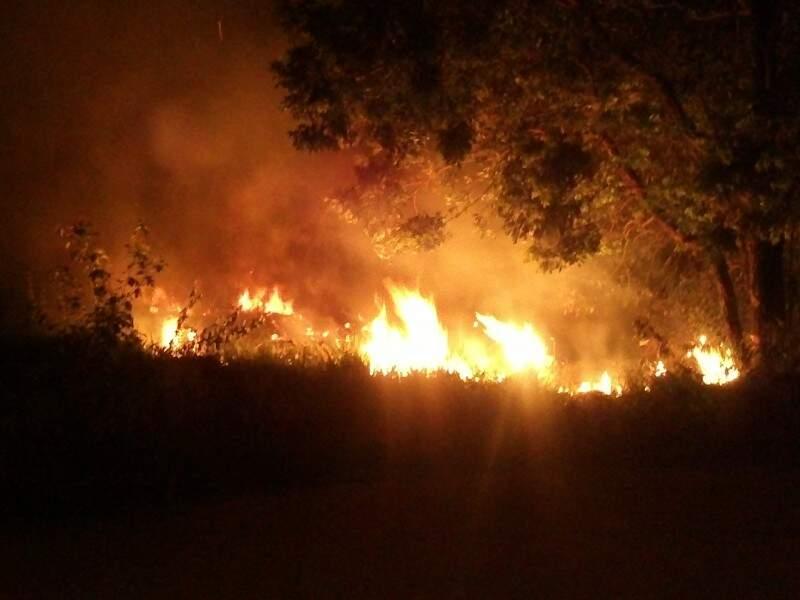Incêndio em reserva ambiental de Aquidauana.