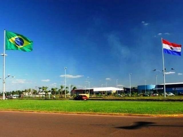 Fronteira do Brasil com o Paraguai, em Ponta Porã. (Foto: Divulgação).