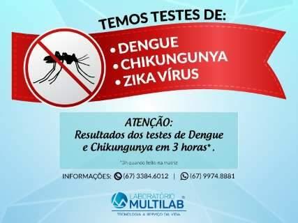 Em apenas 3h, exame detecta até o simples contato com o Zika