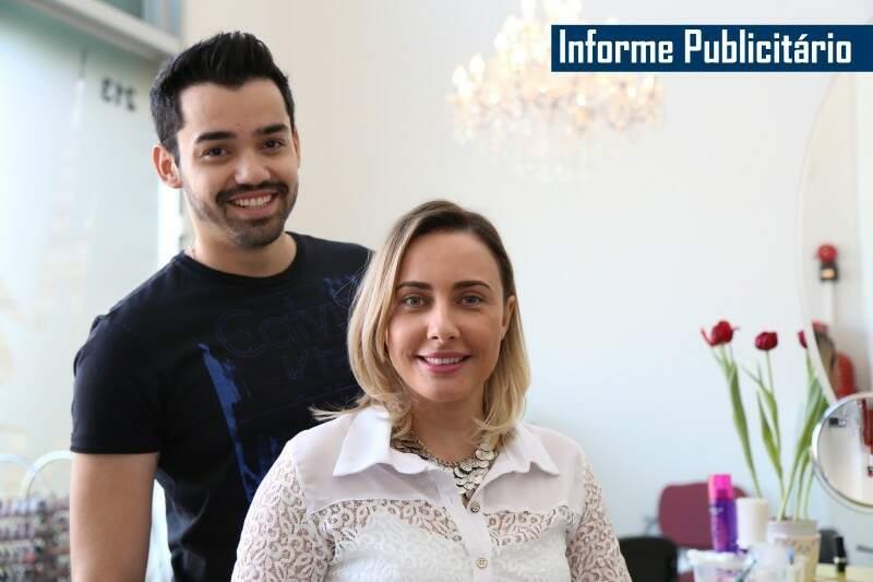 Daliton e Lígia apostam em novas tonalidades de loiro para agradar clientes que buscam inovação (Foto: Fernando Antunes)
