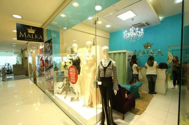 Malka Fashion fica no piso superior do Shopping Pátio Central. (Foto: André Bittar)