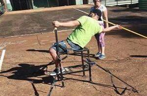 Hugo Juninho treinando para as competições de atletismo em Brasília. (Foto: Divulgação)