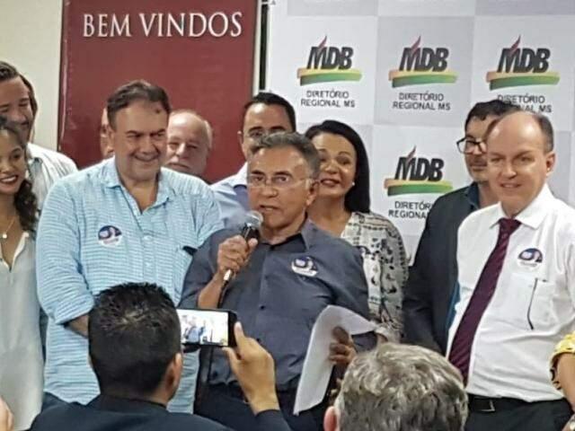 Odilon, em ato no qual recebeu apoio do MDB, oficializou seu apoio a Bolsonaro. (Foto: Anahi Gurgel)