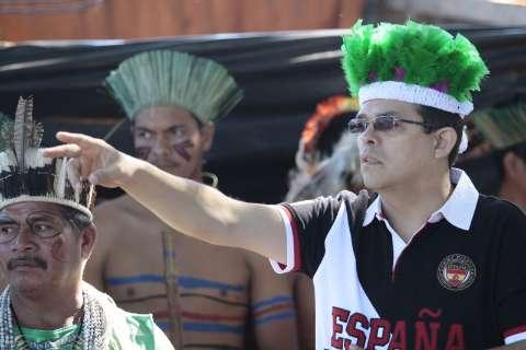 Em aniversário de aldeia, Olarte anuncia coordenadoria indígena