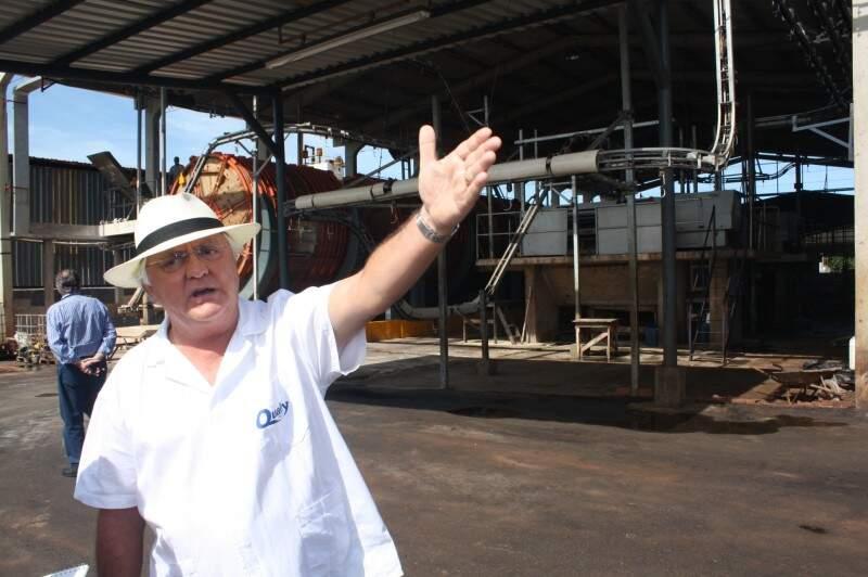 Jaime Valler garante que a água do curtume é tratada e que os restos de couro são recolhidos.