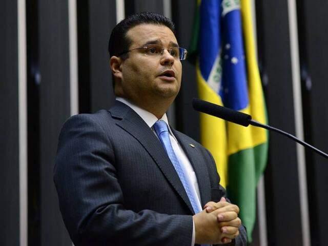 O deputado federal Fábio Trad (PSD) durante fala no plenário. (Foto: Divulgação)