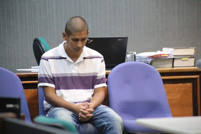 Francismar Câmara durante julgamento realizado nesta quarta-feira. (Foto: Marcos Ermínio)