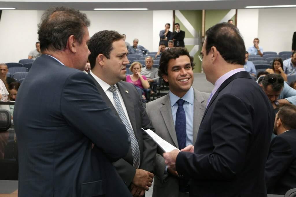 Deputados Eduardo Rocha, Márcio Fernandes, Beto Pereira e Felipe Orro (Foto: Assessoria;ALMS)