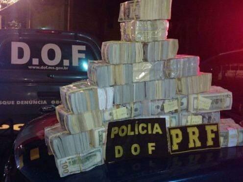 Dólares apreendidos com casal também podem ser usados para construção de Delegacia da Polícia Federal em Ponta Porã (Foto: Divulgação)