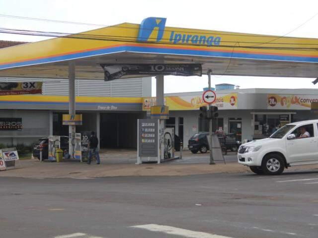 Posto de gasolina em Campo Grande (Foto: Marcos Ermínio/arquivo)