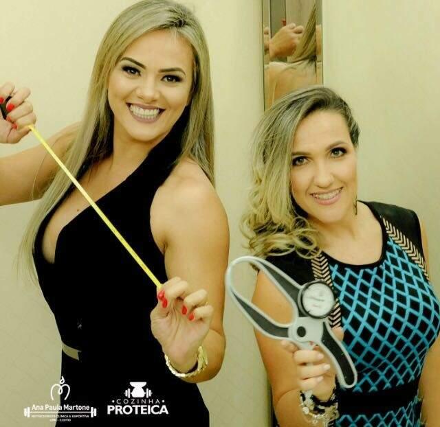 Ana Paula Martone nutricionista e Vivi Mantilha atleta e acadêmica de nutrição (Foto: Divulgação)