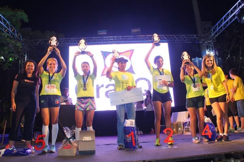 Mulheres também foram premiadas. (Foto:Fernando Ricardo Ientzsch)