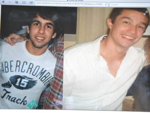 Leonardo e Breno estão desaparecidos desde a noite de ontem. O celular de Breno foi encontrado com mulher presa. (Foto: arquivo pessoal)