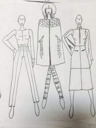 Desenhos da coleção que será apresentada na SPFW...