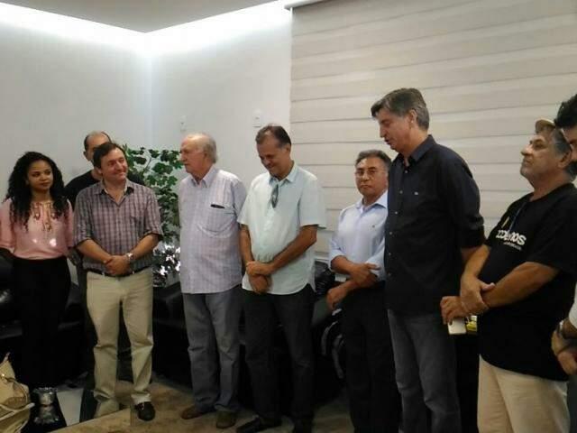 Pré-candidato ao Senado, Chico Maia (ao centro) participou de acordo com o PDT visando a formação de chapa nas eleições deste ano. (Foto: Kleber Clajus)