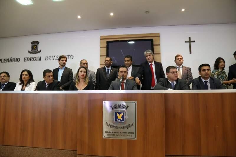 O 1º vice-presidente Flávio César assumiu a presidência no dia 25 agosto, quando Mário César foi afastado pela Justiça (Foto: Arquivo/Marcos Erminio)