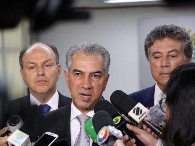 Governador confirmou chegada de recursos para obras do Hospital Regional de Dourados. (Foto: Henrique Kawaminami)