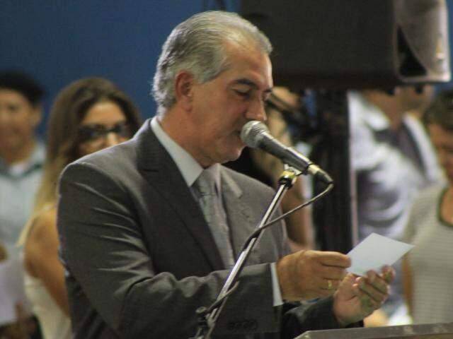 Governador do Estado, Reinaldo Azambuja (PSDB). (Foto: Marina Pacheco).