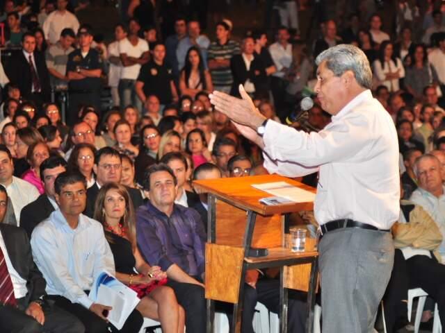 Governador diz que aquário será marca do Pantanal. (Foto: João Garrigó)