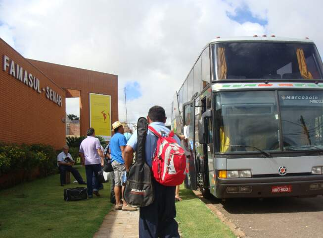 Quinze ônibus saíram do Estado à capital federal. (Foto: Divulgação)
