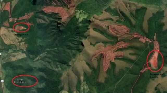 Comunidade Santo Domingos no canto inferior esquerdo da imagem está a 5 quilômetros em linha reta da Barragem do Gregório. (Foto: Reprodução/Google Maps)