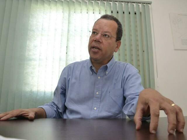 Marcelo Bluma, candidato do PV, durante entrevista. (Foto: Minamar Júnior/Arquivo).