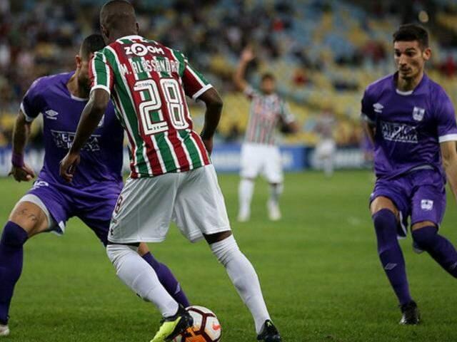 Time dominou a bola durante a maior parte do jogo e conteve o adversário. (Foto: Fluminense FC)