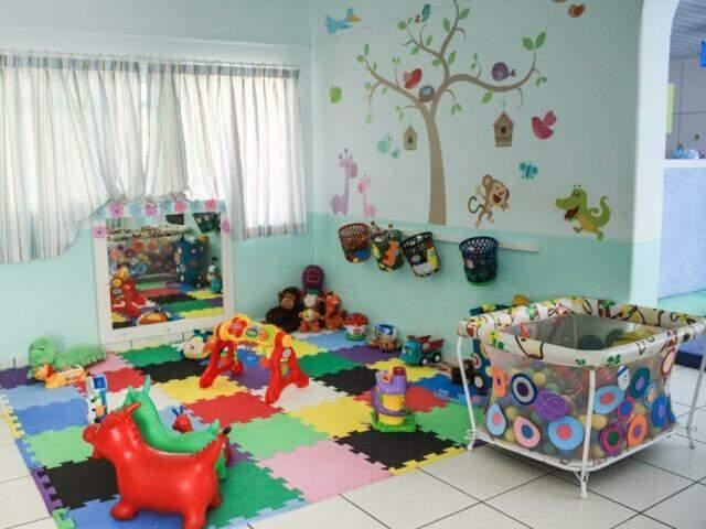 A escola também é toda adaptada para crianças de 4 meses a 5 anos. (Foto: Marina Pacheco)