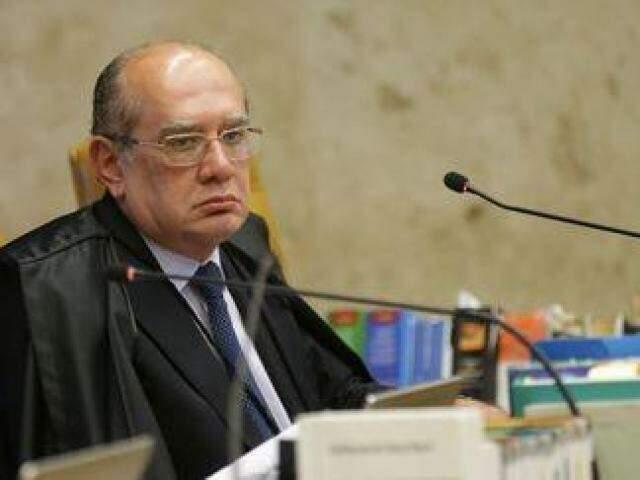 Ministro Gilmar Mendes durante sessão do STF (Foto: Antonio Cruz/Agência Brasil)
