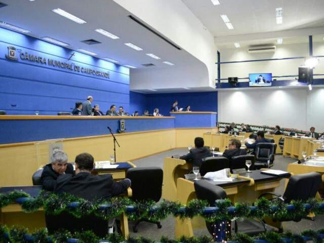 Sessão na Câmara Municipal de Campo Grande. (Foto: Paulo Francis/Arquivo).