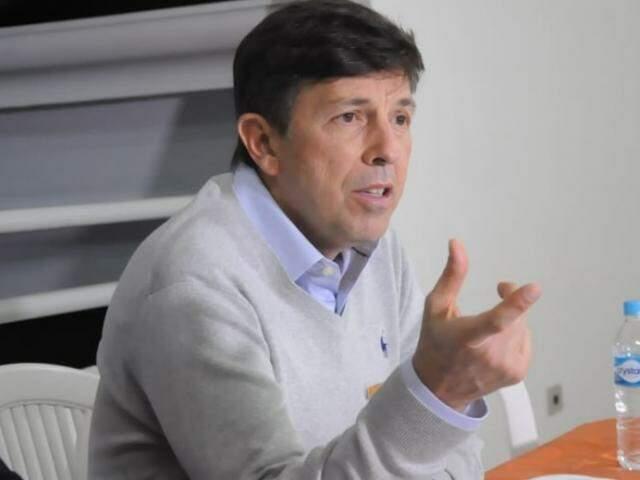 João Amoedo (Novo) durante a coletiva de imprensa, no encontro desta noite (06). (Foto: Paulo Francis)