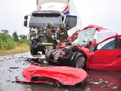 Vítimas de acidente participaram de casamento e voltavam para Maracaju