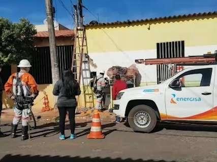 Operação combate furto de energia nas Moreninhas