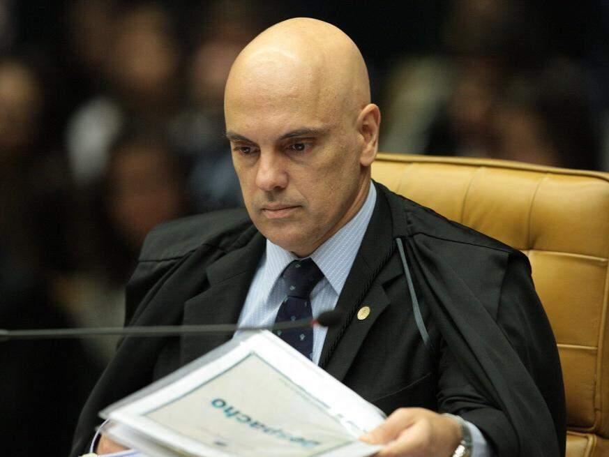 Ministro Alexandre de Moraes durante julgamento. (Foto: Rosinei Coutinho/STF)