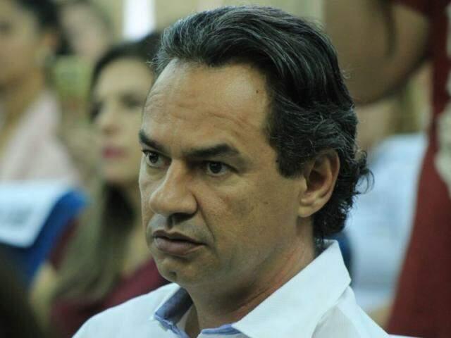 Prefeito de Campo Grande, Marquinhos Trad (PSD), durante agenda na Governadoria. (Foto: Marina Pacheco/Arquivo).