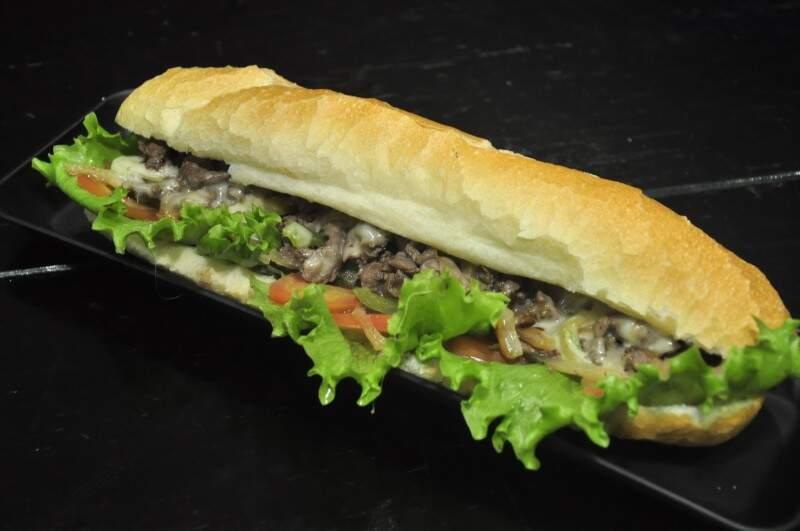 """""""Submarine Sandwich"""", um dos lanches mais populares no EUA (Foto: João Garrigó)"""