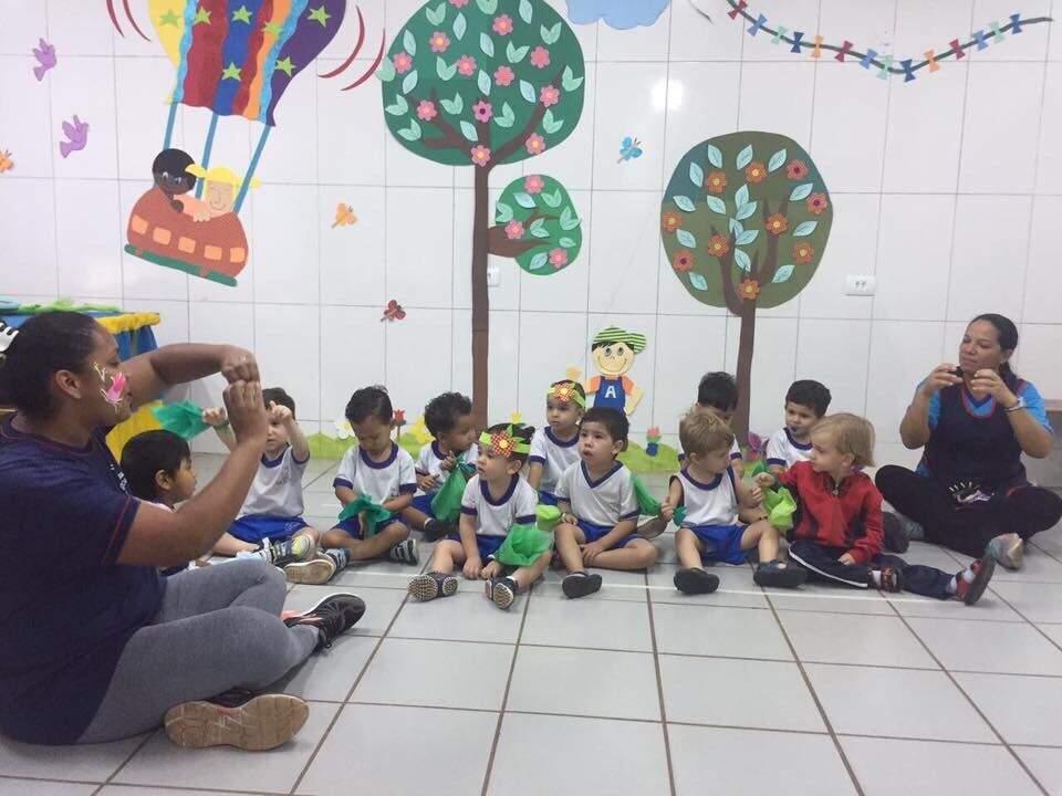 Aula de musicalização- (Foto:Divulgação)