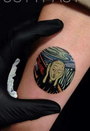O Grito norueguês Edvard Munch também foi referência.